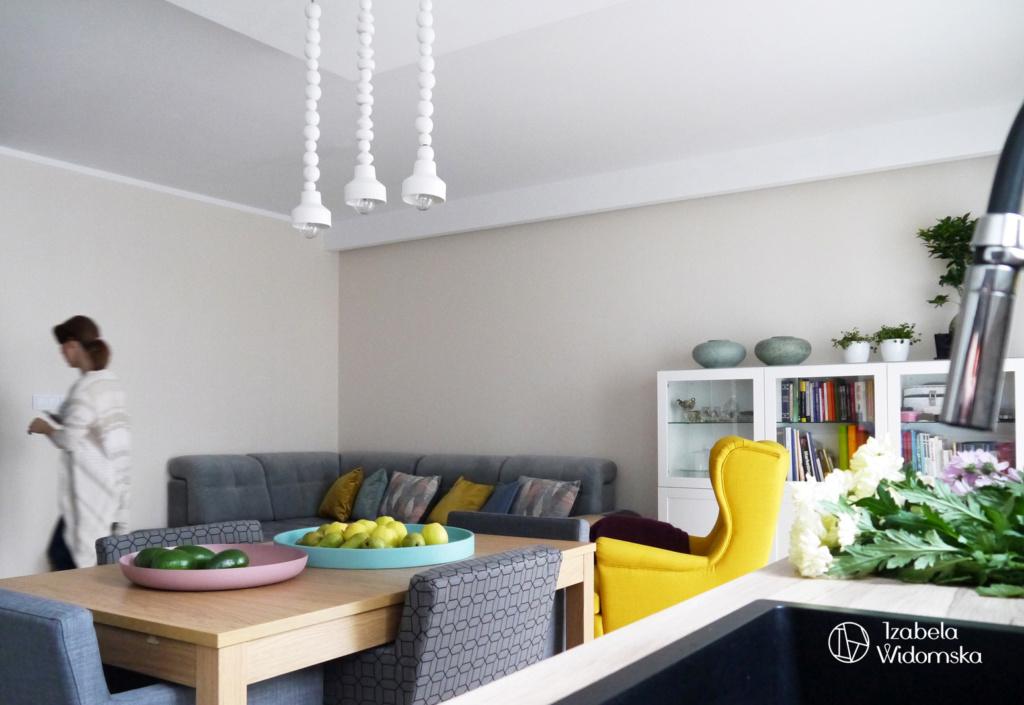 U siebie w pastelowych kolorach | Ciepło Optymizm Wygoda | Projekt wnętrza architekt Izabela Widomska